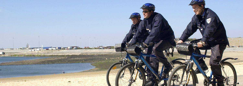 Police municipale à vélo