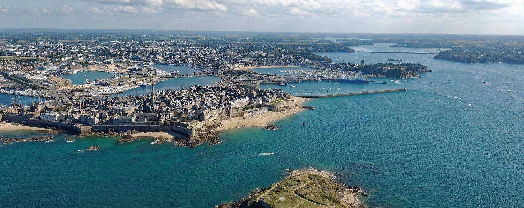 Saint Malo, Grand B, vue arienne